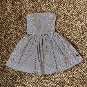 Abercrombie & Fitch Strapless Striped Dress Sz S